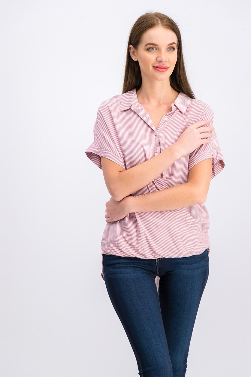 Short Sleeve Top, Pink