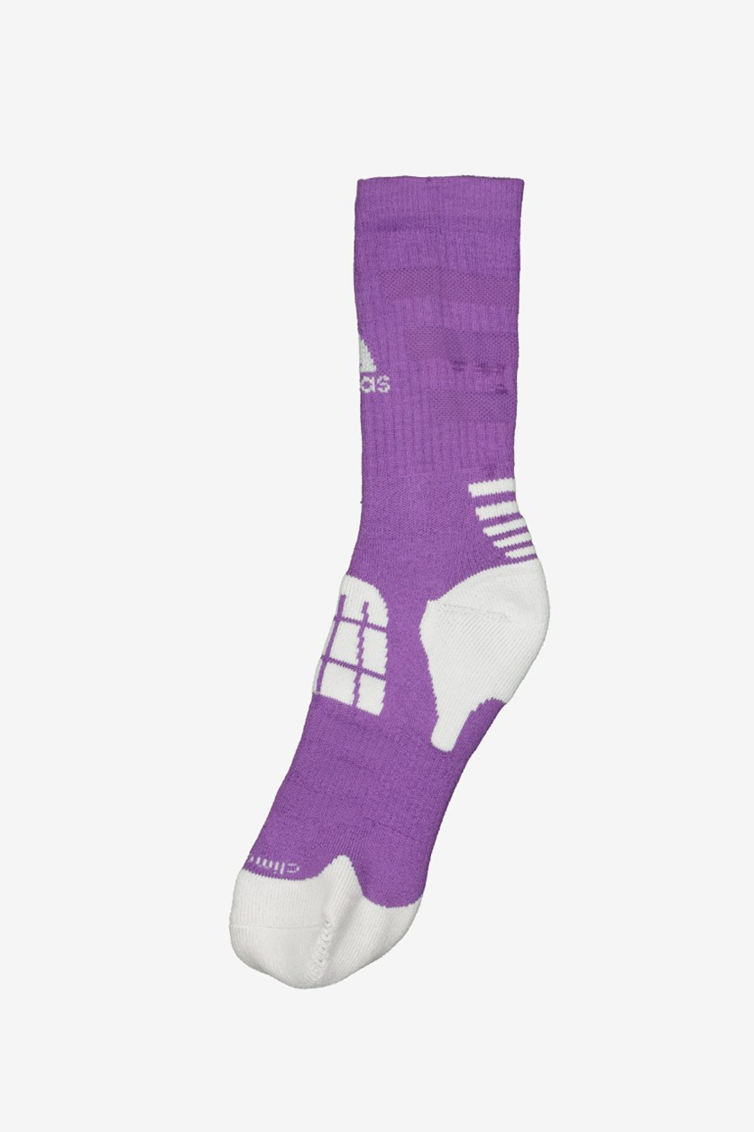 Men's Basketball RM Socks, White/Purple