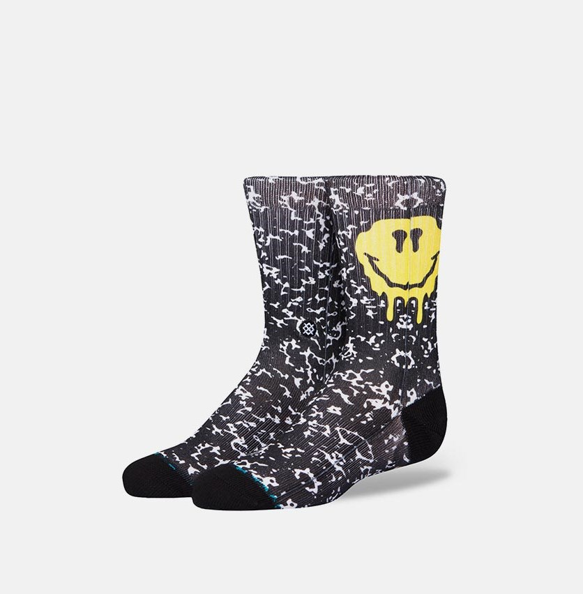 Boy's No Duh K Socks, Black Combo