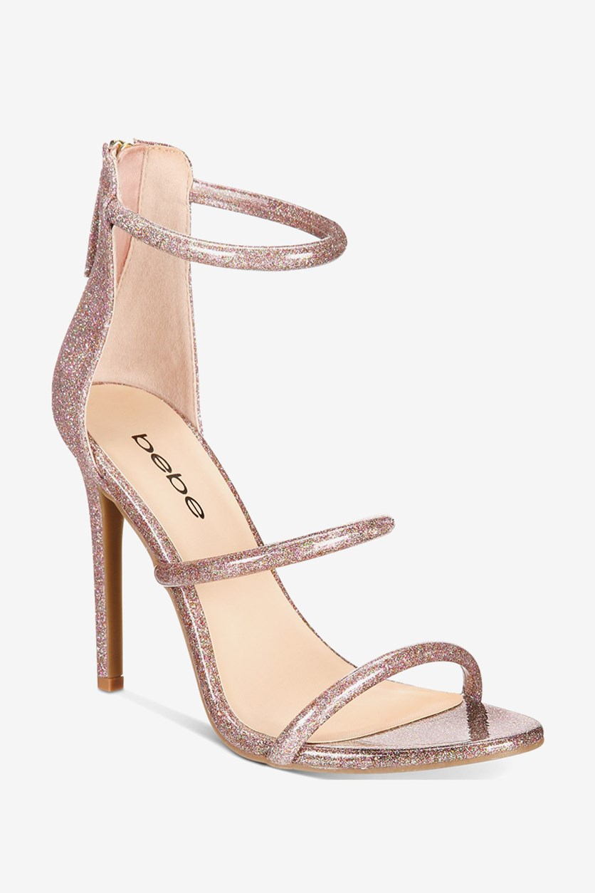 Womens Berdine Dress Sandals, Pink Glitter