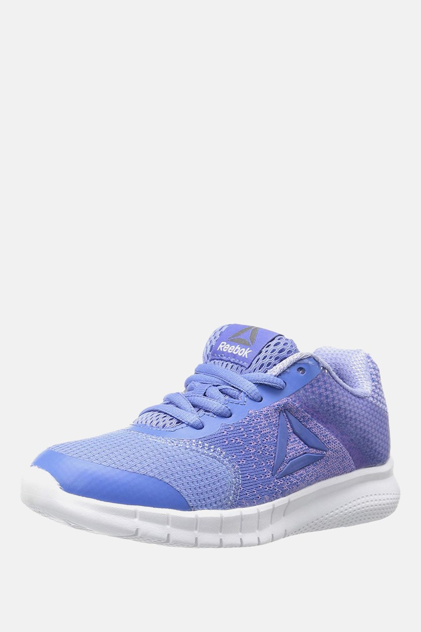 Girl's Instalite Run Shoes, Lilac/Blue