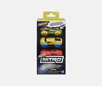 Nerf Nitro Foam Car 3-Pack (Version 5), Green/Yellow/Red