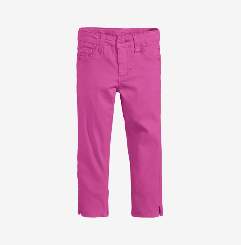 Girl's Super Soft Colored Denim Jean, Fuchsia
