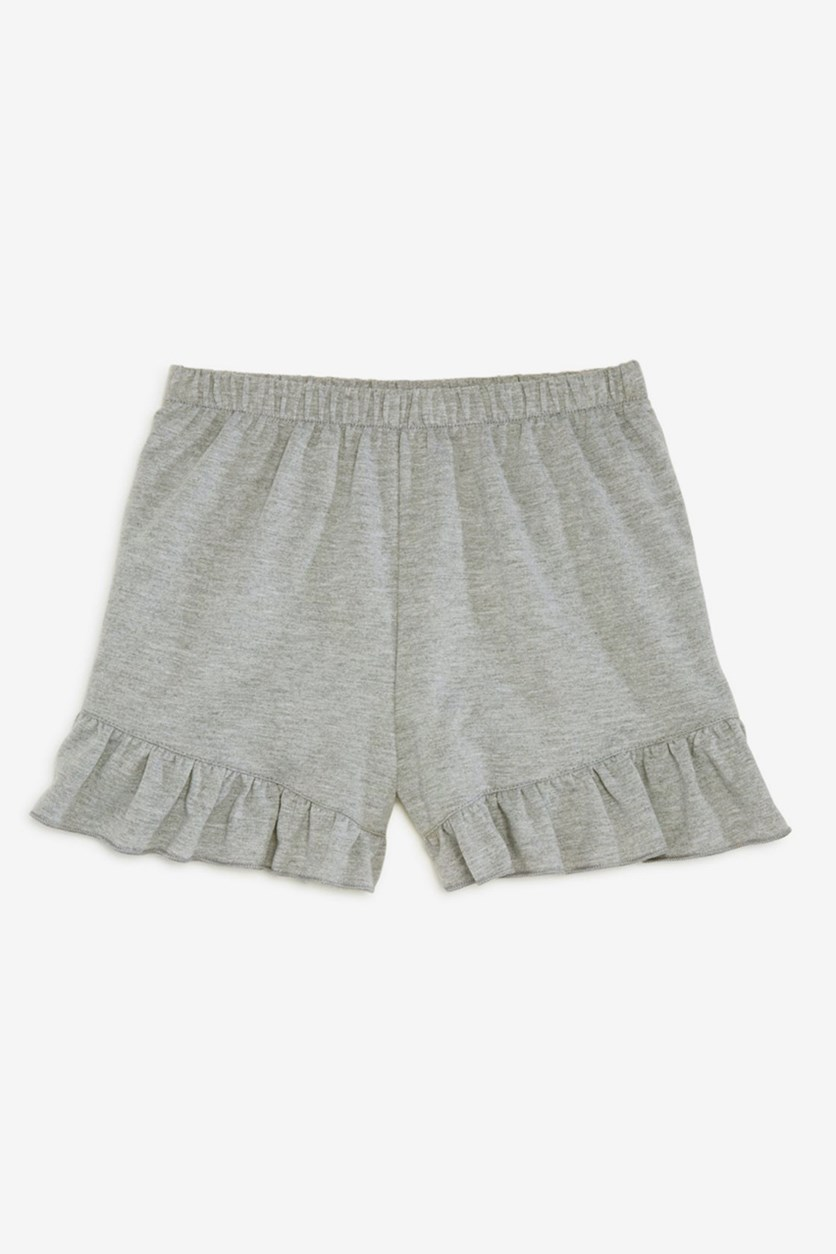 Girls' Ruffle-Trimmed Shorts, Cement