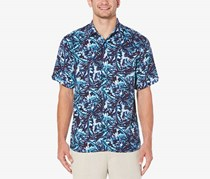 Cubavera Men's Tropical Shirt, Navy Blue