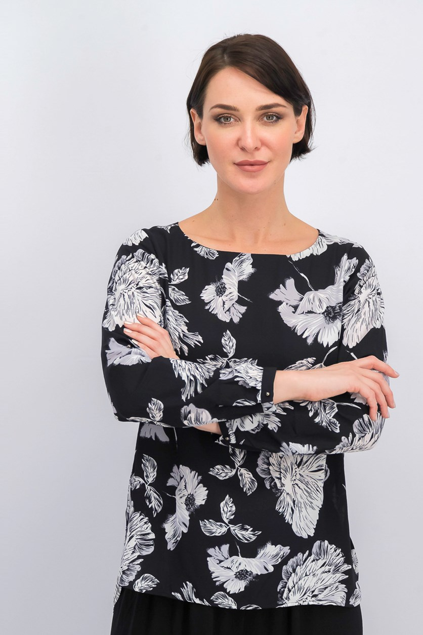 Women's Long Sleeve Blouse, Black
