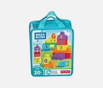Mega Bloks First Builders 123 Count Bag, Turquoise Combo