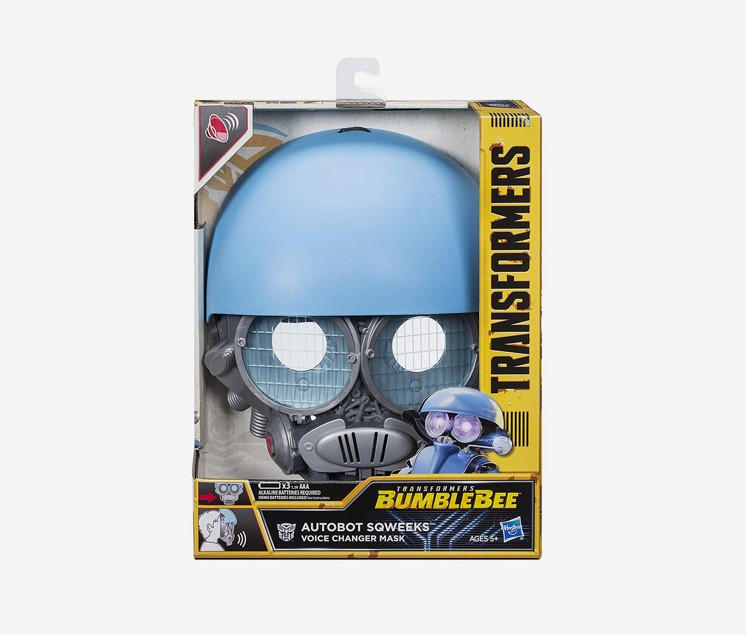 Transformers: Bumblebee Voice Changer Mask Autobot Sqweeks, Blue