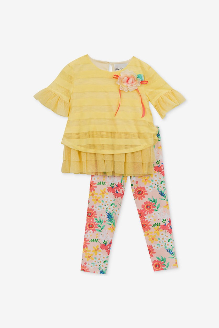 2-Pc. Layered-Look Tunic & Leggings Set, Butter
