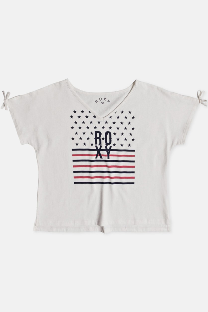 Girls Simple Touch Tee, Marshmallow