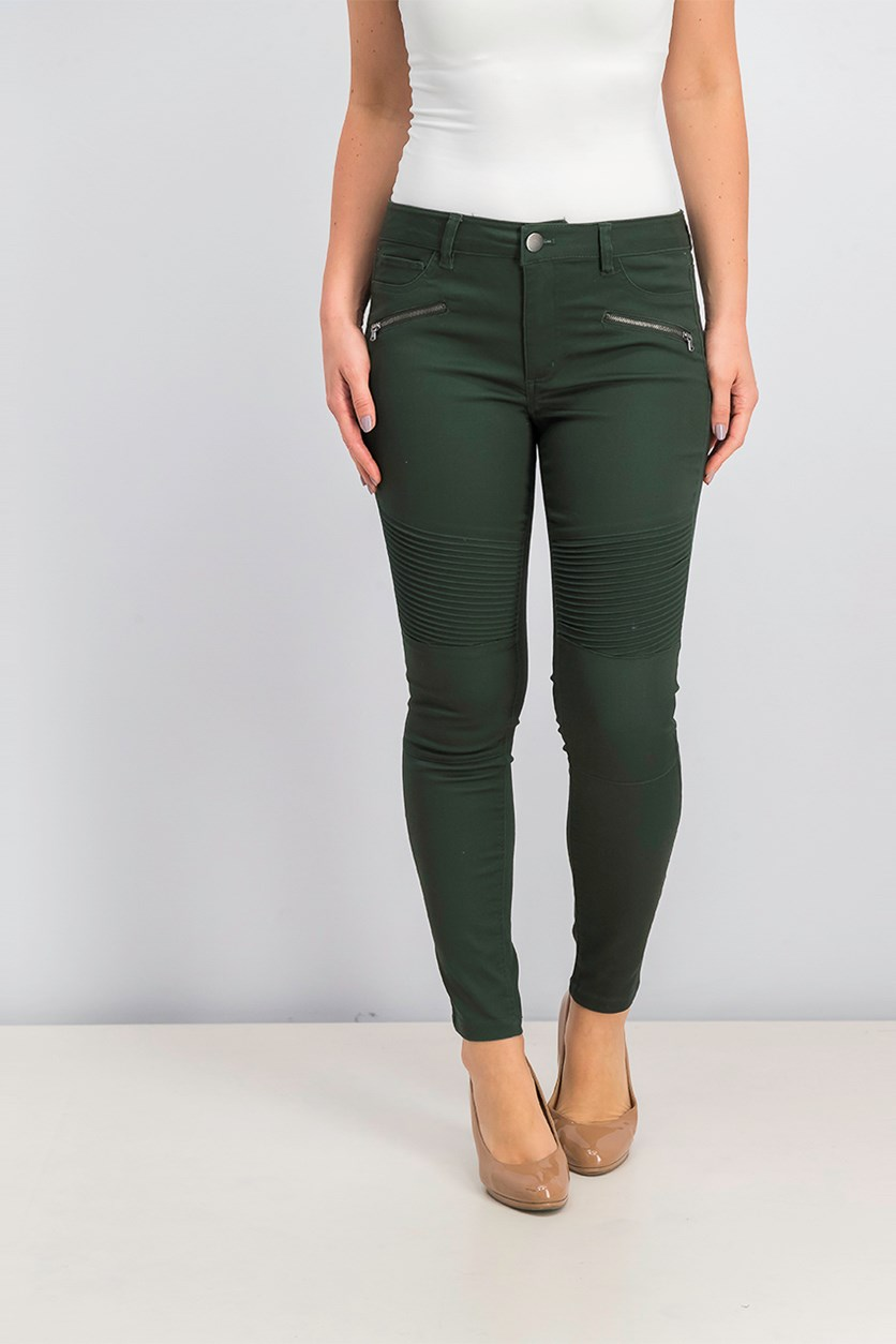 Women's Zip Pants, Green