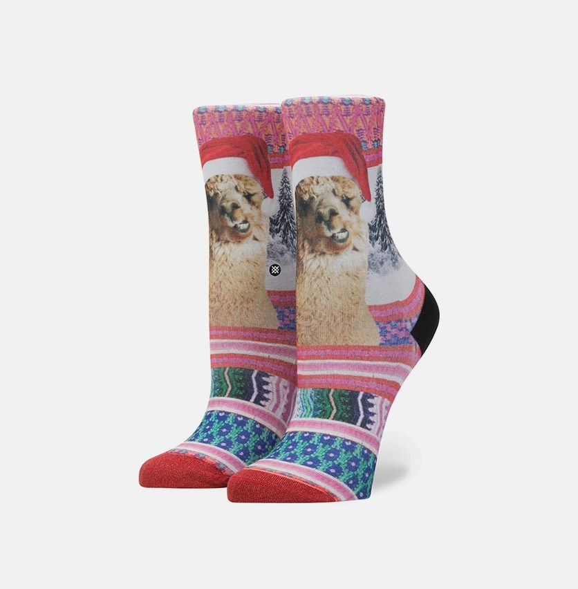 Girl's Tinas Holiday Socks, Red Combo