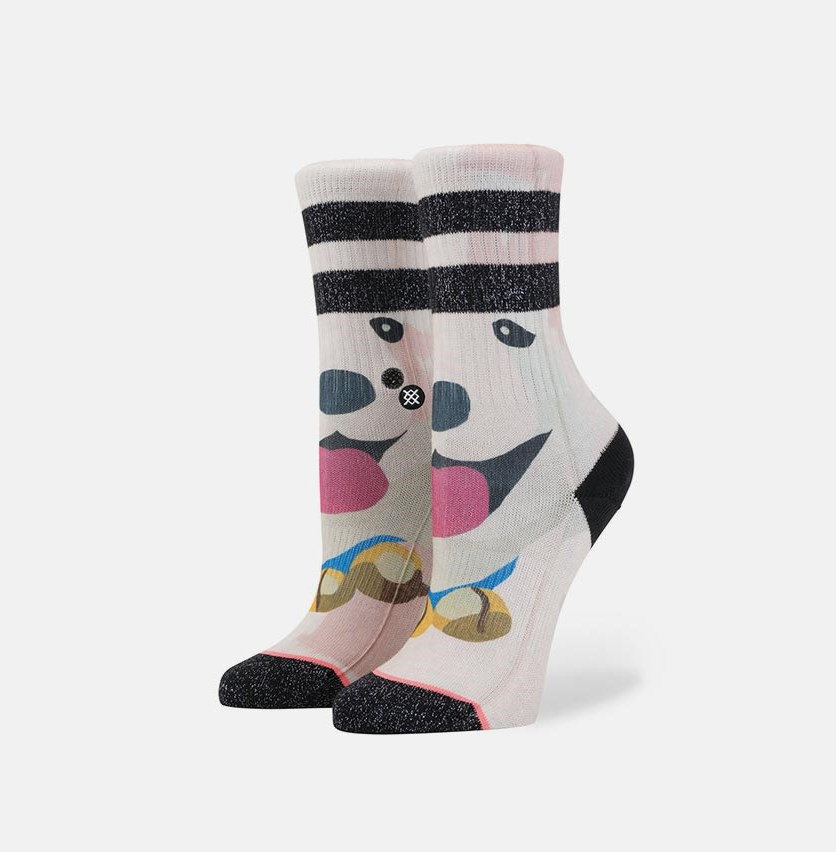 Girl's Puppies Socks, Black Combo