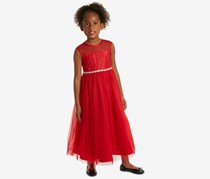 Rare Editions Girls Lace Maxi Dress, Red