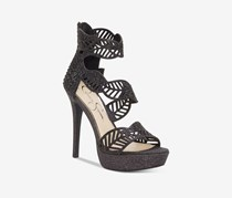 Jessica Simpson Bonilynn Platform Dress Sandals, Black Sparkle
