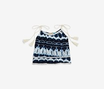 Girls' Tasseled Tie-Dye Tank, Navy