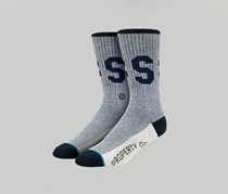 Stance Men's Midfield Socks, Navy Blue