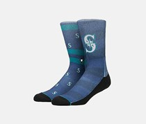 Men's Mariners Splatter Socks, Blue