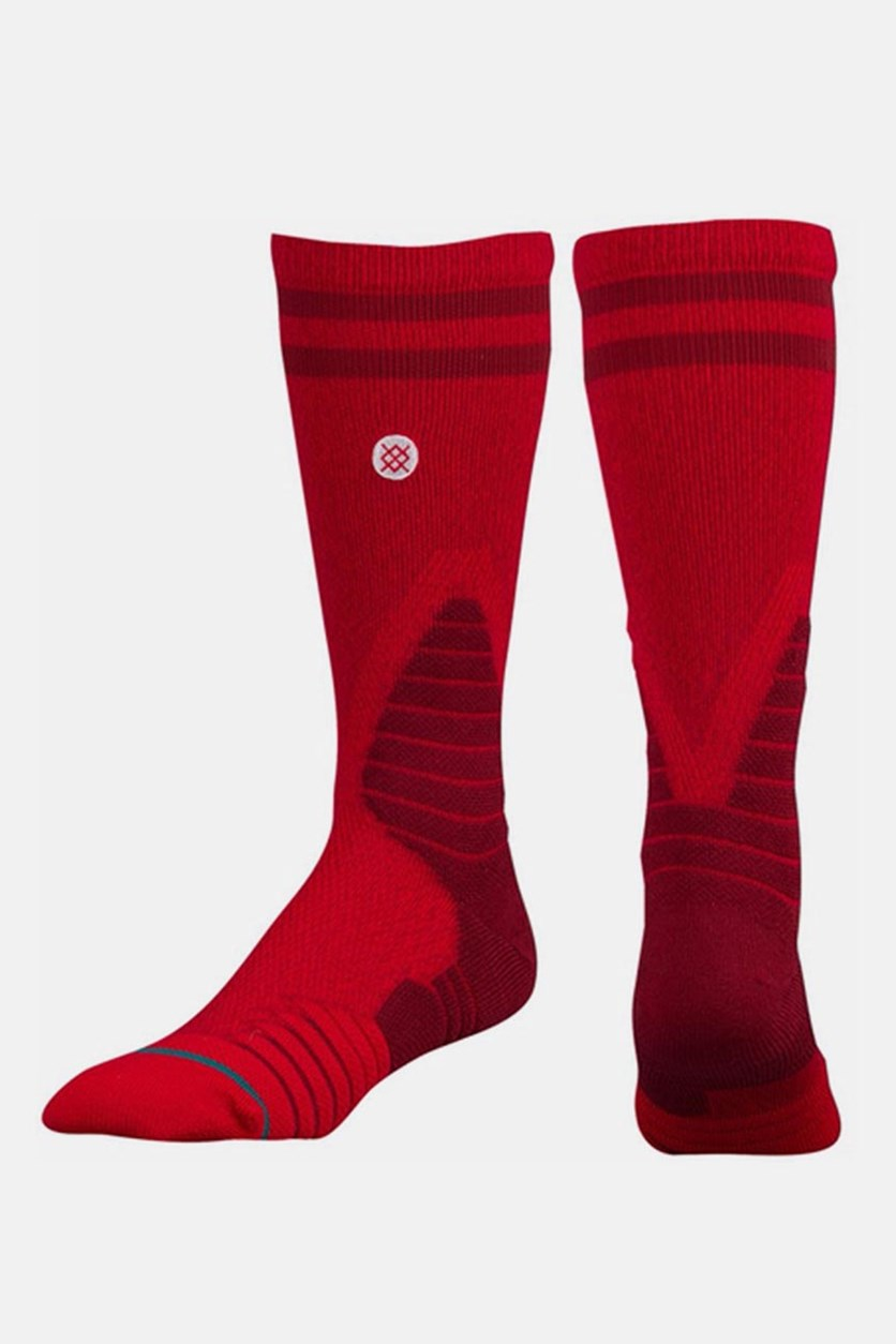 Stance Men's Gameday Fusion Basketball Crew Socks, Red