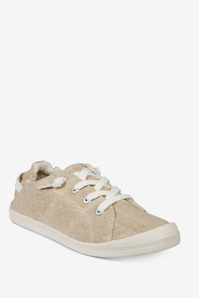 Brooke Lace-Up Sneakers, Sand