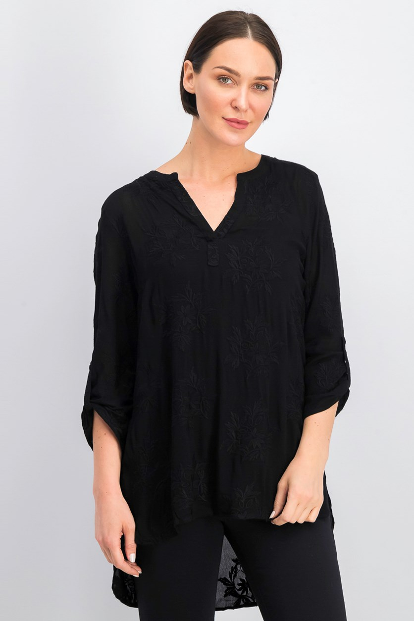 Women Embroidery Blouse, Black