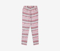 Espirit Girl's Printed Leggings, Pink Combo