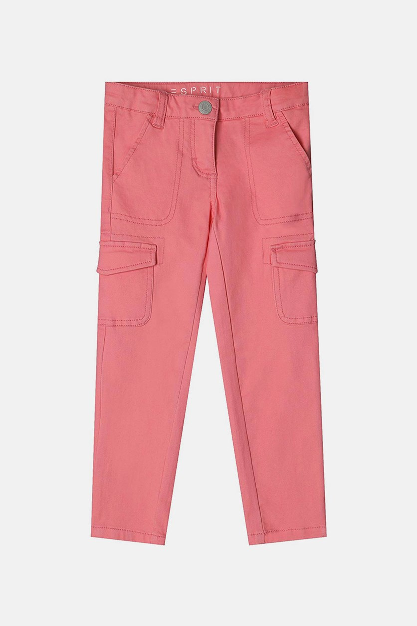 Kids Girls Pants, Bright Coral