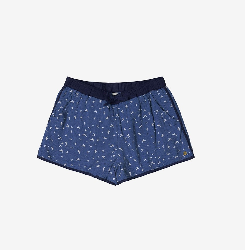 Kid's Girl's Bernuda Short, Blue Overseas
