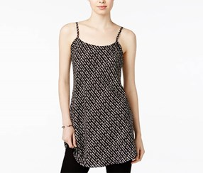Rachel Roy Women's Graphic Camisole Tunic, Black