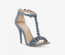 INC International Concepts Womens Rosiee T-Strap Embellishment Sandals, Denim
