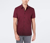 Ryan Seacrest Distinction Men's Dash-Print Shirt, Burgundy