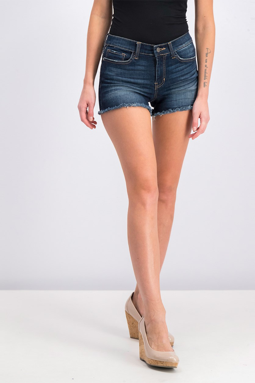ID:23 Women's Denim Short, Dark Blue