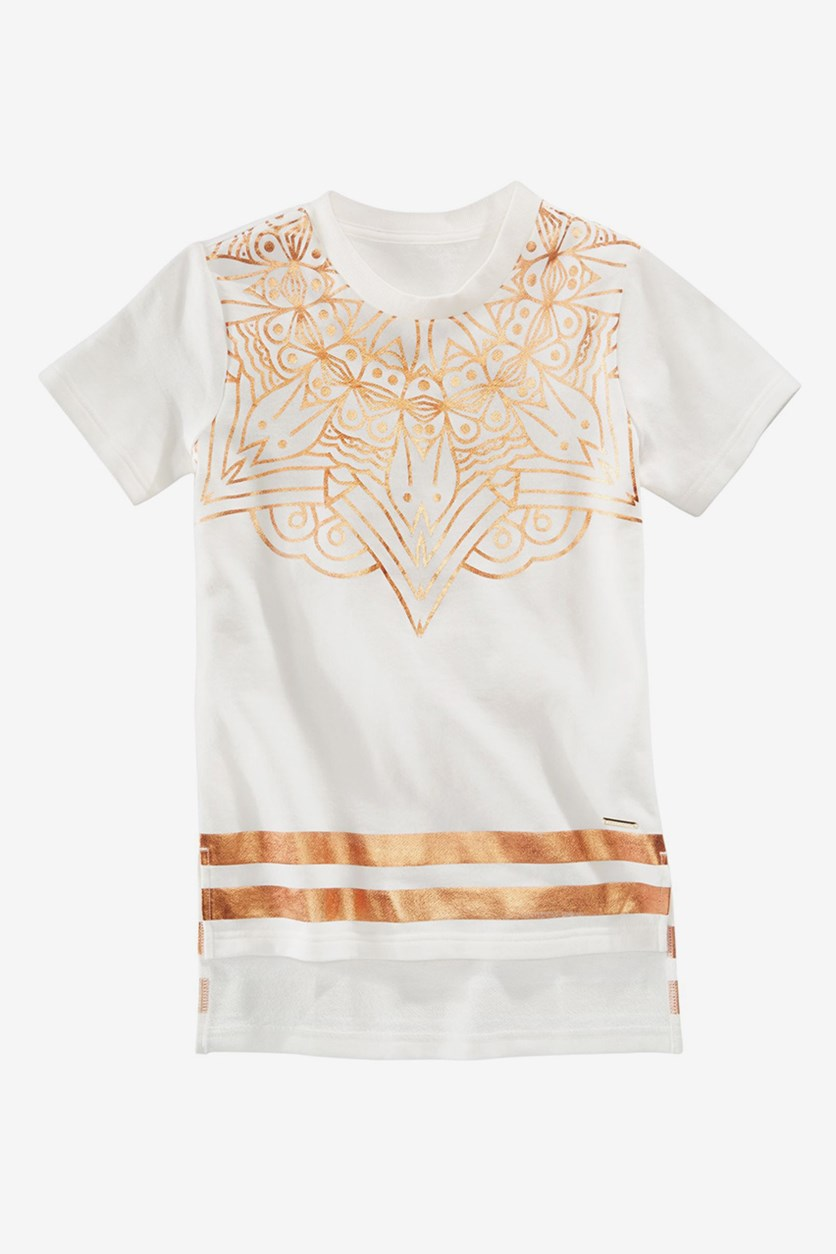 Boys Graphic-Print T-Shirt, Off White Combo