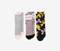 Stance Baby Girl's Dylann Box Set Socks, Yellow/Pink/Gray Combo