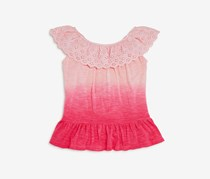 Design History Girls' Dip-Dyed Top, Birthday Pink