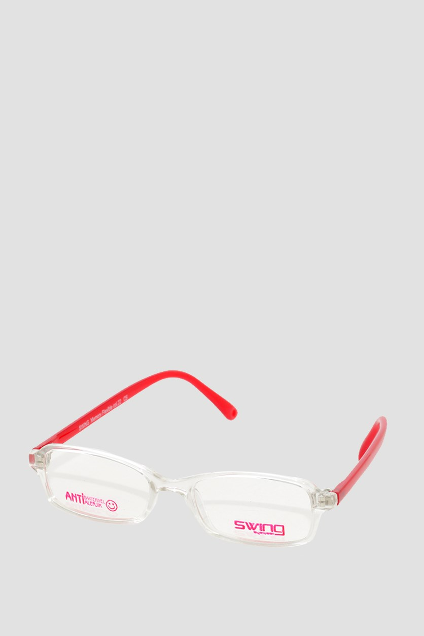 Eyewear Unisex TR027 Memory Flexible Frames, Transparent/Red