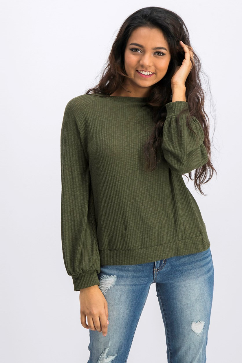 Women's Knit Tops, Olive