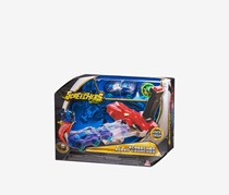 Speed Launcher Flipping Morphing Toy Car Vehicle, Red/Blue