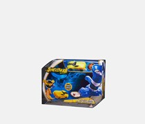 Screechers Wild Rapid Fire Disc Blaster Flipping Morphing Toy Car Vehicle, Blue