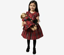Bonnie Jean Girls 2-Pc. Plaid Dress & Doll Dress Set, Red