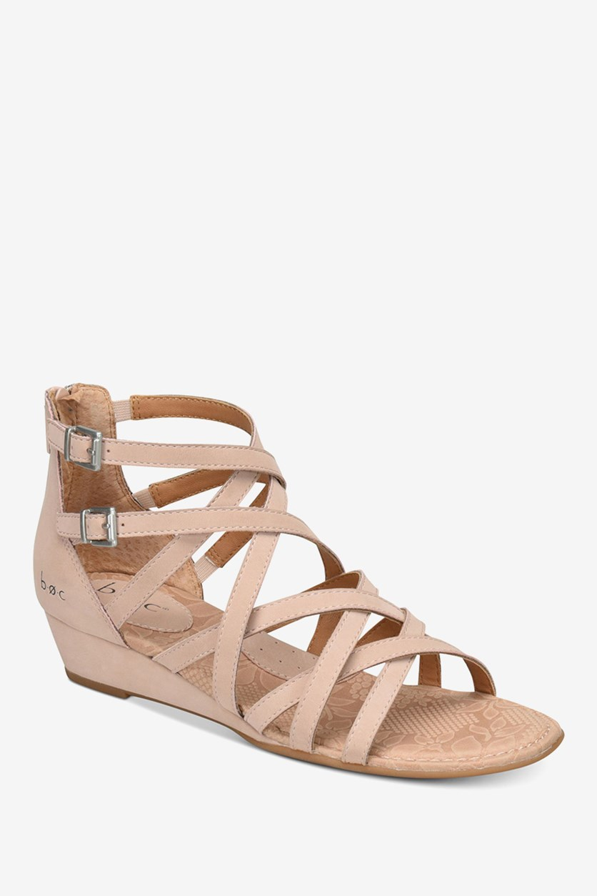 Women's Mimi Wedge Sandals, Blush