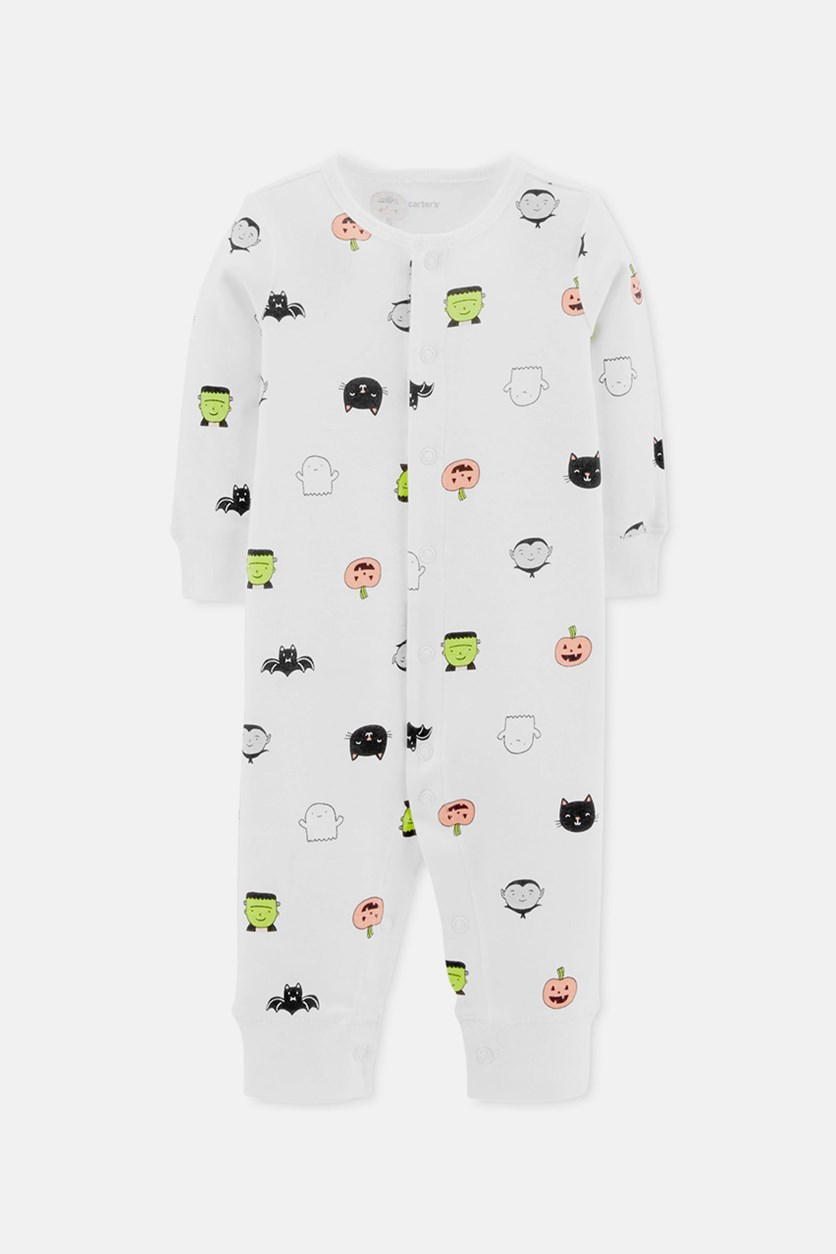 Carter's Baby Boys & Girls Cotton Printed Coverall, White