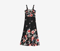 Monteau Girls Floral-Print Maxi Dress, Black