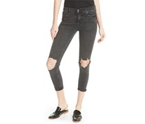 Free People Women's High Waist Ankle Skinny Jeans, Grey