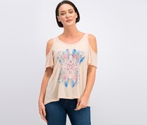 Jessica Simpson Nova Cold-Shoulder T-Shirt, Rose