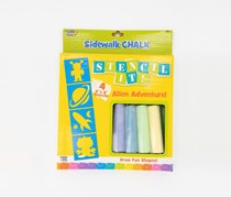 Poof Sidewalk Chalk Stencil It! Alien Adventure, Yellow