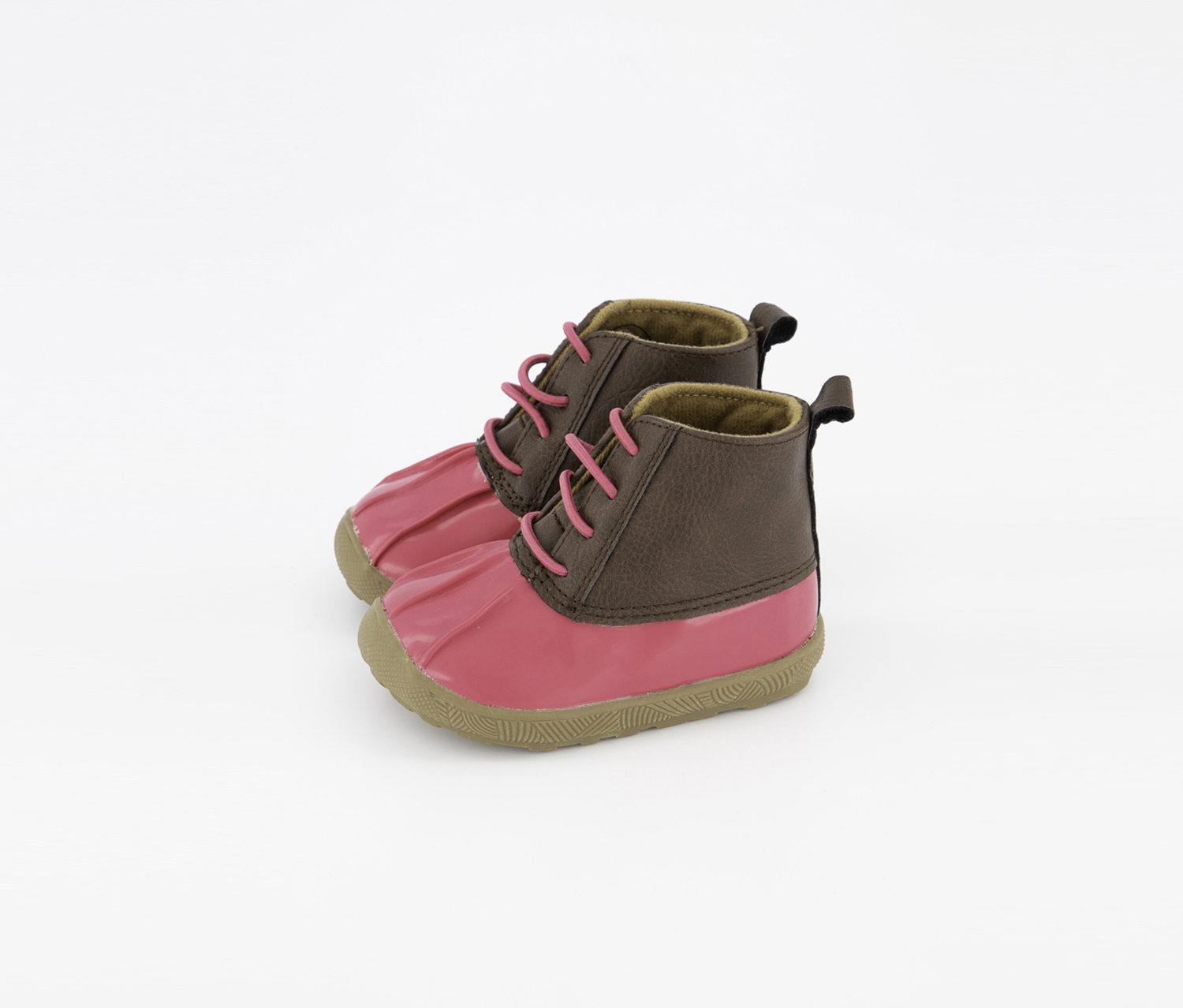 Baby Girl's Duck Boots, Dark Pink