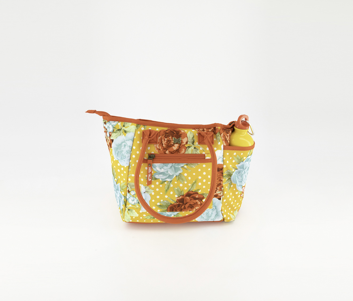 Pioneer Woman Insulted Lunch Bag with Bottle, Orange
