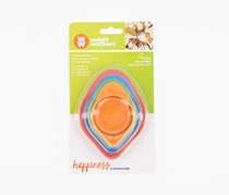 Howland Collapsible 4 Piece Measuring Cup Set, Red/Blue/Orange/Green