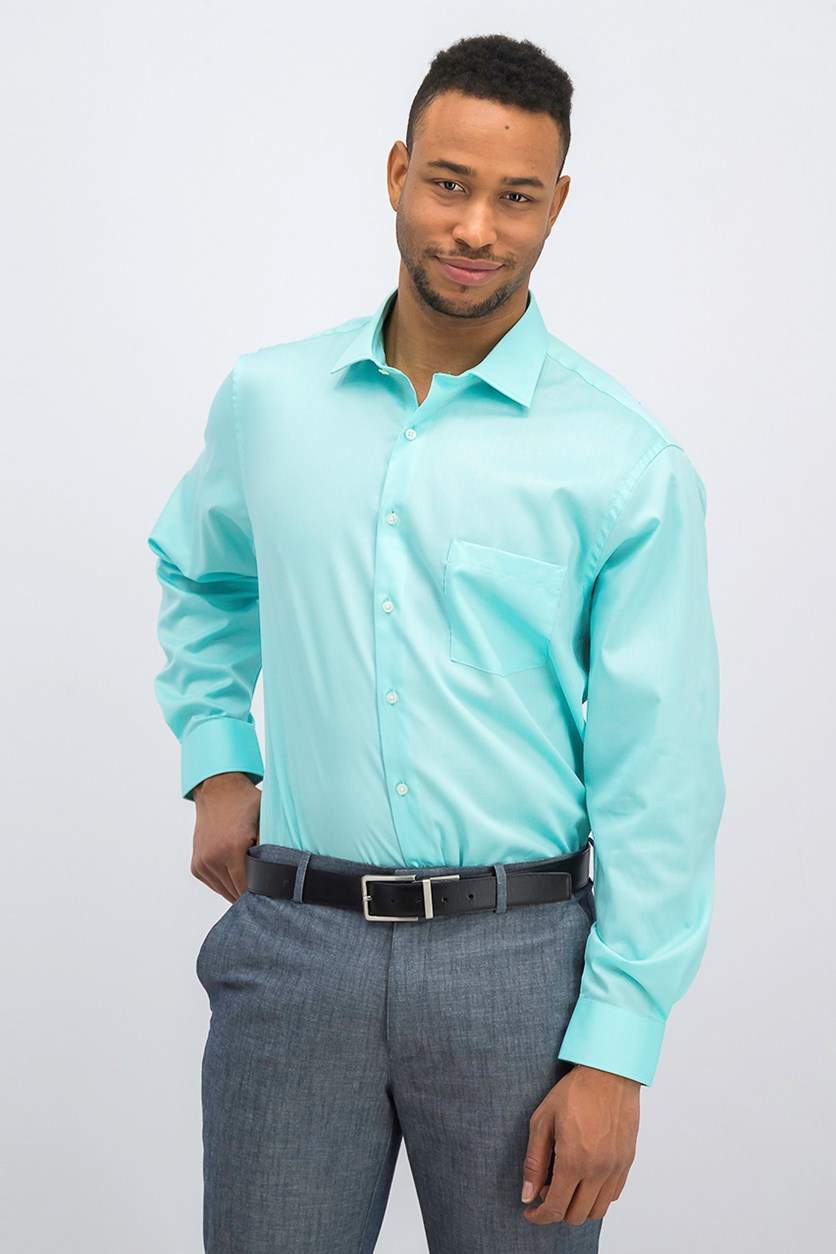 Men's Regular Fit Stretch Dress Shirt, Mist